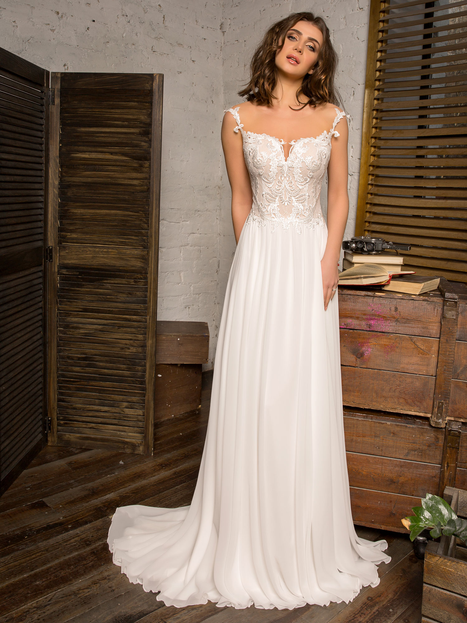 Robe de mariée fluide Angers chez White Boutik